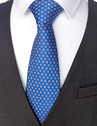 (100% Silk Ties for Men Handmade Neckties with Snowflakes Printed+Gift box )