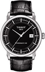 Tissot Men's T0864071605100 Luxury Analog Display Swiss Automatic Black Watch
