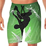 Men's Swim Trunks Hip Hop Quick Dry Beachwear Sports Running Summer Beach Board Shorts Vacation Surfing Bathing Suit