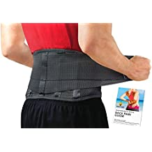 Back Brace by Sparthos - Immediate Relief for Back Pain, Herniated Disc, Sciatica, Scoliosis and more! – Breathable Mesh Design with Lumbar Pad – Adjustable Support Straps – Lower Back Belt [M]
