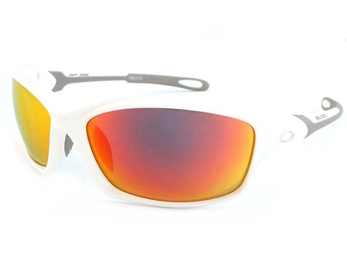 d159068416 Bloc Daytona Sunglasses White With Red Mirror XRW60  Amazon.co.uk  Clothing