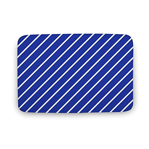 DKISEE Indoor Outdoor Entrance Rug Floor Mat Bathmat Eamless Blue Pattern03 Doormat (Techcare Floorliner And Floormat Cleaner Protector Kit)