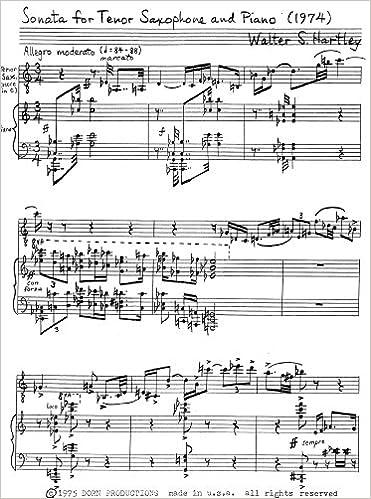 Amazon com: Sonata for Tenor Saxophone and Piano
