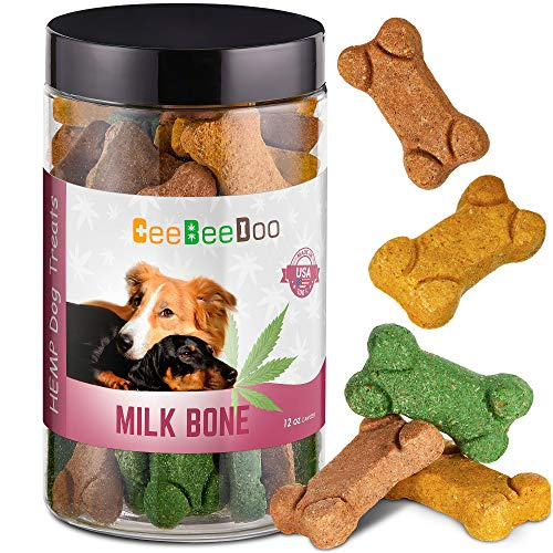 CeeBeeDoo Dog Treats with Hemp Oil for Pain Relief & Anxiety – Healthy & Tasty Hemp Treats for Dogs – Natural Pet Hemp Chews Dog Calming Treats for Small & Large Dogs, (Bone Biscuits) ()