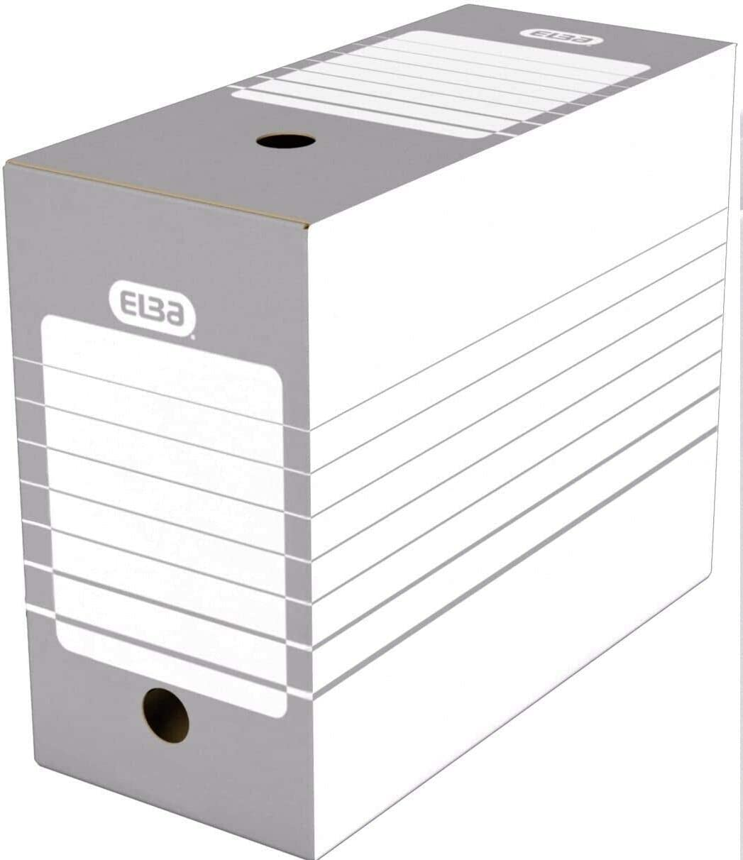 Elba Pack of 20 A4 Archive Storage Boxes 15cm