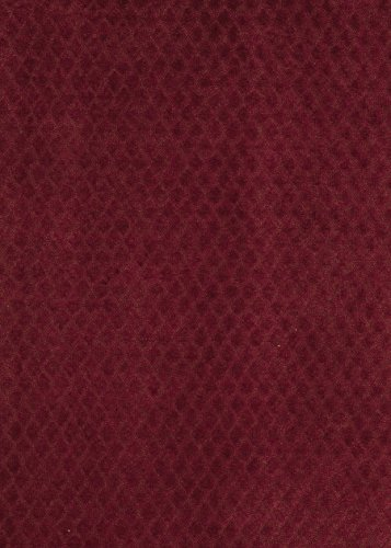 - Garnet Burgundy Small Scale Woven Solid Diamond Ogee Velvet Grospoint Wovens Chenille Upholstery Fabric by the yard