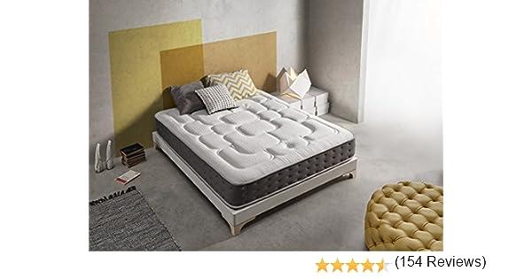 Living Sofa COLCHÓN VISCOGRAFENO 160X200 SIMPUR Relax Royal ® | 30 CM Grosor | FIRMEZA Maximo Confort | Alta Gama | 100% Temperatura Optima para EL ...