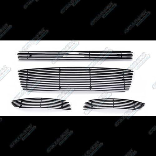 APS Compatible with 2006-2013 Chevy Impala LS LT Without Fog Light Black Billet Grille Combo S18-H76016C