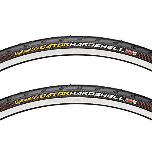 (Continental Gator Hardshell Tire Pair 27x1-1/4 Wire Clincher Black 27