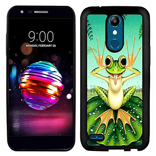 Soft Phone Case for LG K10 2017 (5.3-Inch) Cute Frog