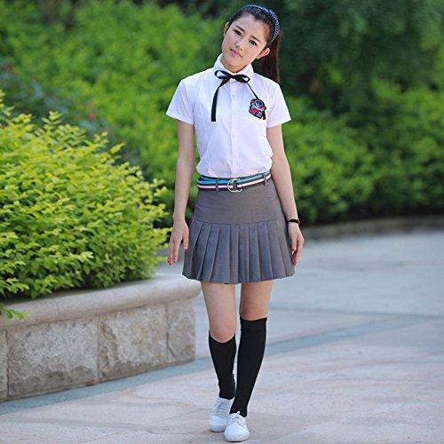 ZHFC-British College Students use manga larga uniformes escolares, de manga corta de los hombres y de las mujeres de faldas, trajes, faldas Pantalones 25
