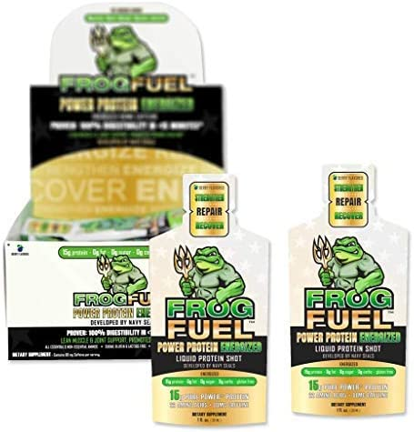 FrogFuel Energized Power Liquid Protein Shot, Berry – 24 1oz. Proven to Boost Immunity. Formula Trusted by 3,500 Medical Facilities for Complete Protein Nutrition and Proven 2X Faster Healing