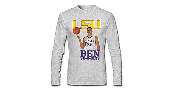 the best attitude addad 07b82 YOGUYA Men's NCAA Lsu Ben Simmons Long Sleeve Shirt ...
