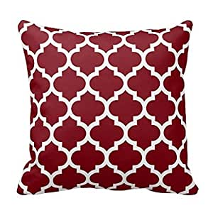 Amazon.com: Polyester Decorative Square Cushion Cover Mid Century Modern Atomic Mobile Fabric ...