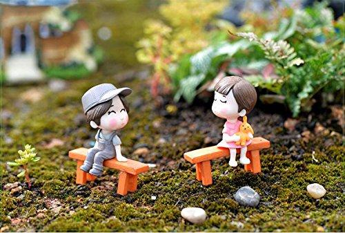 Miniature Garden Decor - 3 Pieces Set Lover Couple Wedding Doll Figurines Miniatures Fairy Garden Bonsai Resin Crafts toys home decoration - Miniature Fairy Garden Décor