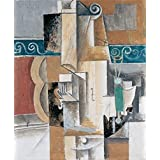 Canvas Prints Of Oil Painting ' Picasso, Pablo_1912_Guitar And Violin ' , 8 x 10 inch / 20 x 25 cm , High Quality Polyster Canvas Is For Gifts And Bath Room, Living Room And Powder Room Decoration