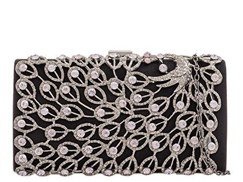 LeahWard Wedding Women's Black Handbag LeahWard Prom Women's Evening Clutch Bag xXqzrXwE7
