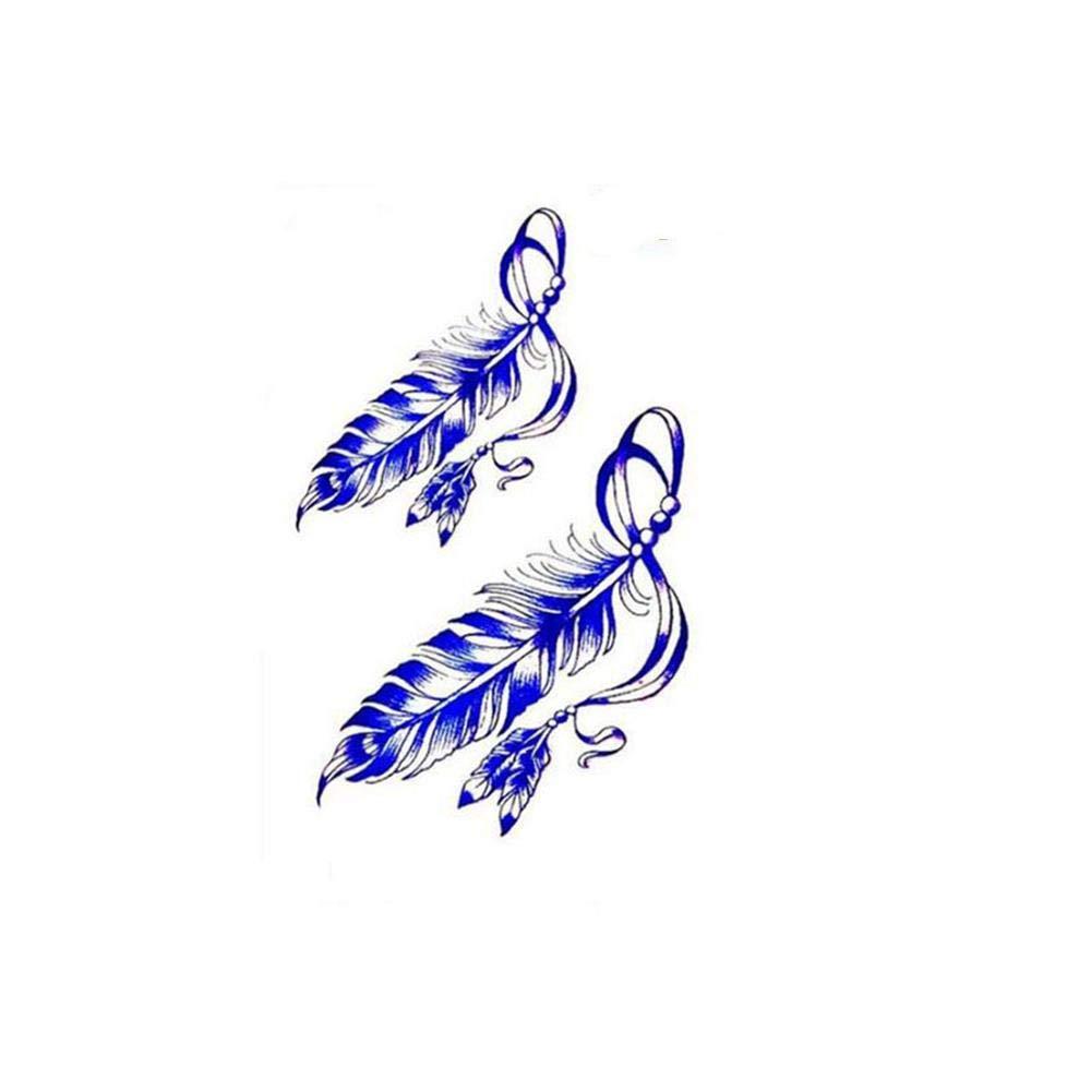 Etiqueta engomada del Tatuaje de la Pluma del Color de la Pluma ...