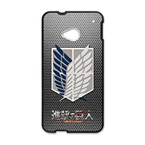 2015 Bestselling attack on titan survey corps symbol Phone Case for HTC M7 Black
