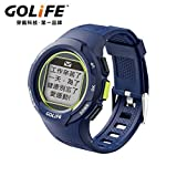 GOLiFE Fashion Thin GPS Smart sport Watch for Women and Men Runner with Heart Rate Motor Chronograph Stopwatch Alarm Clocks SMS App Notice (Navy Blue)