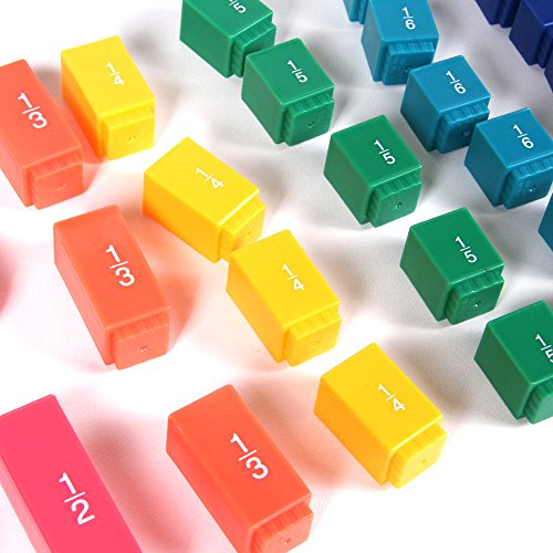 hand2mind Plastic Rainbow Fraction Tower Linking Cubes, Math Manipulative, Bulk Classroom Kit (15 Sets of 51 Cubes) by hand2mind (Image #5)