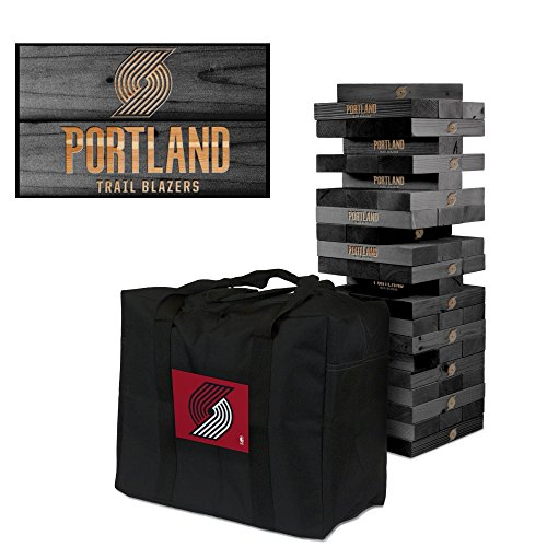 (Portland Trail Blazers Onyx Stained Giant Wooden Tumble Tower Game)