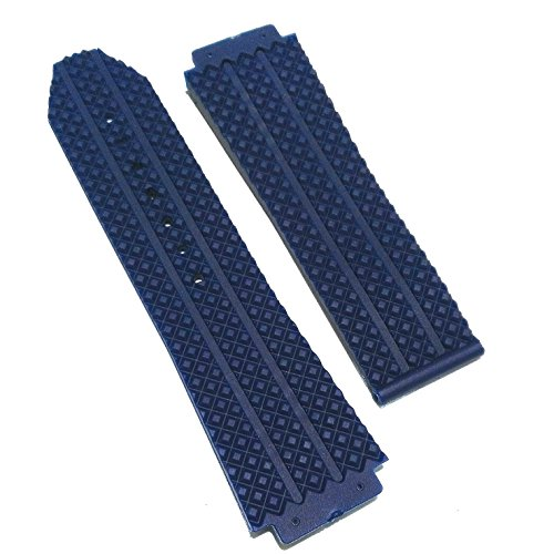 25mm Navy Blue OEM Style Rubber Watch Strap for HUBLOT Big Bang 12-501-80