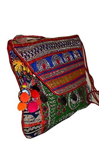 Tribal Asian Textiles - Cartera de mano para mujer multicolor