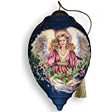 Ne'Qwa Art Christmas Blessings - New for 2012 - Glass Ornament Hand-Painted Reverse Painting Distinctive 372-NEQ