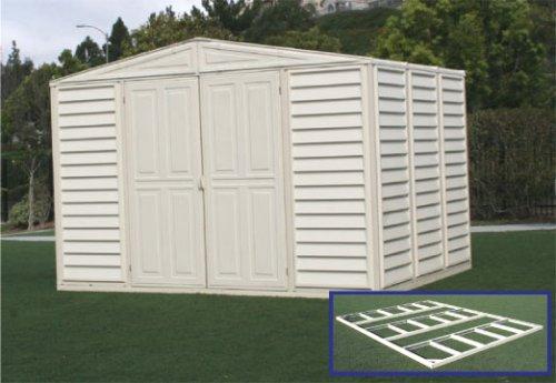 Duramax model 00214 10x8 woodbridge vinyl storage shed for Garden shed uae