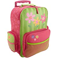 Stephen Joseph Girls 2-6x Rolling Flower Luggage,Lime Green/Hot Pink,One Size