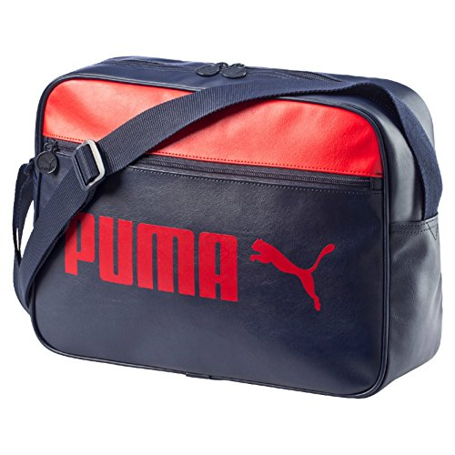 Puma Synthetic 12 Ltrs Peacoat and High Risk Red Messenger Bag (7384302)