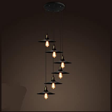 outlet store sale 1ae65 7e971 Amazon.com: Stairs Lights Industrial Wind Double Rotating ...