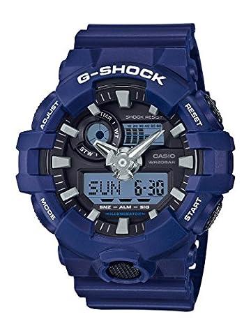 Casio Men's 'G SHOCK' Quartz Resin Casual Watch, Color:Blue (Model: GA-700-2ACR) (Blue G Shock Men)