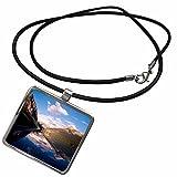 3dRose Danita Delimont - Alberta - Lake Louise, Mt Victoria Glacier, Banff, Alberta - CN01 AJE0005 - Adam Jones - Necklace With Rectangle Pendant (ncl_134990_1)