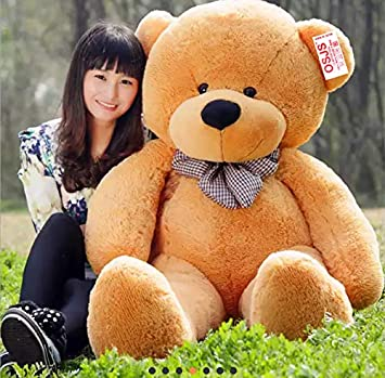 OSJS Lovable Giant Teddy Soft Toy for Girls (Brown 3 ft, 91 cm)