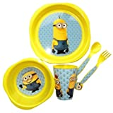 Best IkEA Kids Plates - BARGAINS-GALORE Despicable Me Minions Dinner Lunch Breakfast Childrens Review