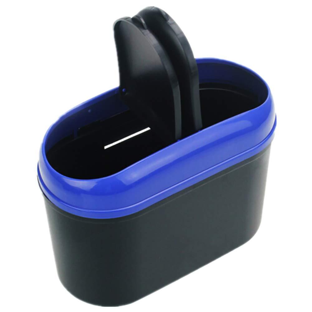 BESTEU Poubelle de Voiture Mini Auto poussi/ère de Voiture v/éhicule avec Poubelle /à Double Couvercle Poubelle