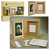 Trademark Global 80-1724, Pet Impression Casted Paw Print Keepsake Shadow Box Frame