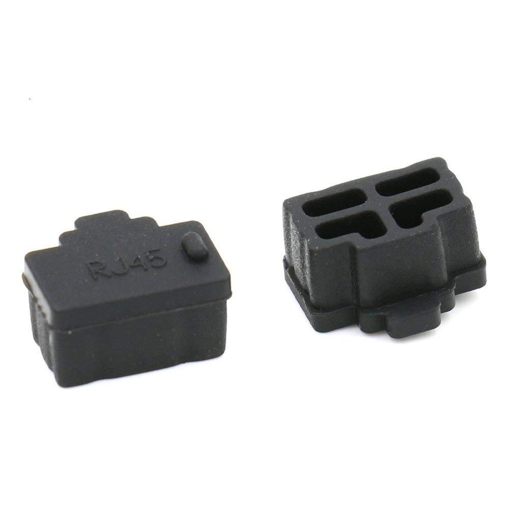 SHANF dieci pezzi silicone Hub porta Ethernet RJ45anti copertura antipolvere del tappo di protezione per RJ45femmina Port