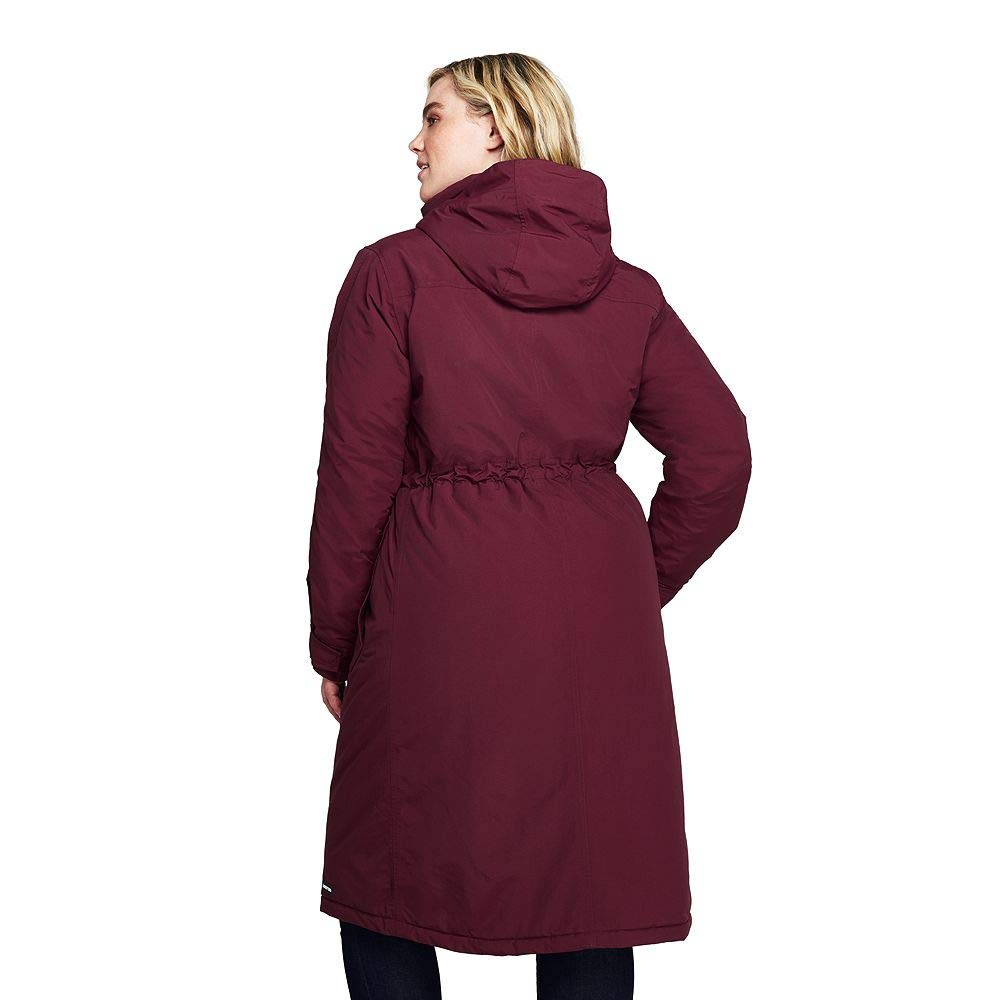 9ebbb350d53 Amazon.com  Lands  End Women s Plus Size Squall Insulated Long Stadium Coat