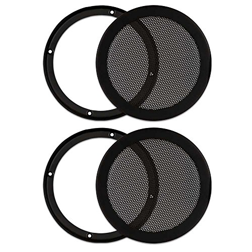 2 Goldwood Sound SG-M6 Heavy Duty Steel Mesh Snap On Woofer Grills for 6.5