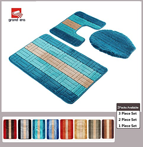 Grand Era 3 Piece Bath Mat Set Polypropylene Fiber Mat 20