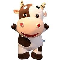 TOYANDONA Plush Cow Pillow 3D Animal Stuffed Throw Pillow Cushion Cuddle Pillow for Birthday Gift 40cm (Random Color)