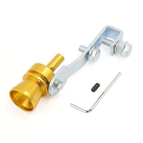 sourcingmap® Silbido de sonido de Turbo Silenciador de tubos de escape de tipo de M