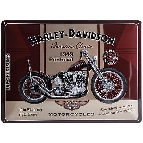 Automobilia 2 Harley Davidson Genuine 30x40 Cm Blechschilder Im Set Accessoires & Fanartikel