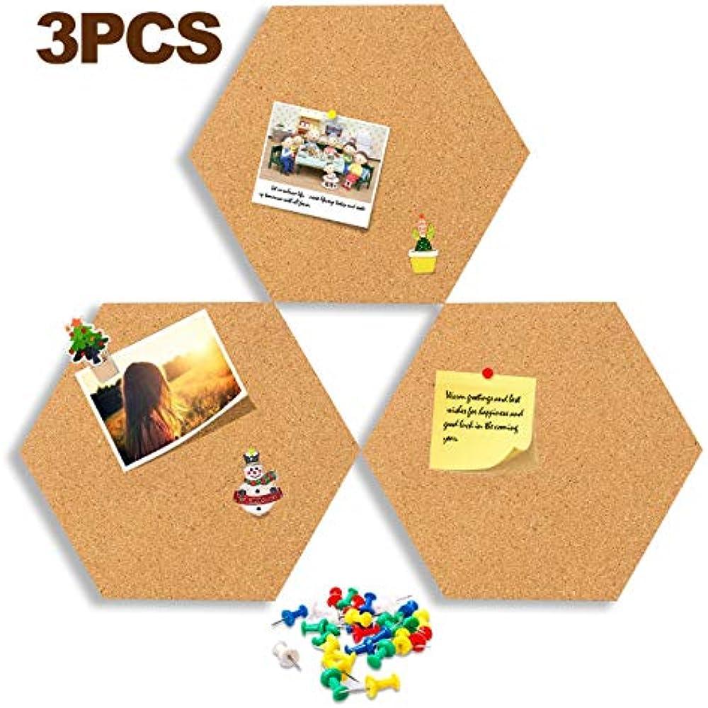 Hexagon Cork Board Tiles Adhesive Wood Pad Bulletin Big Size Message
