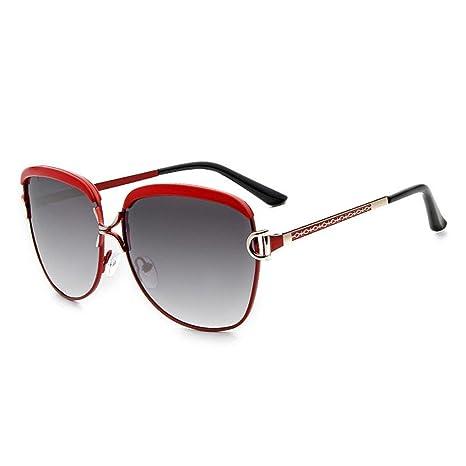 GUO Las Gafas de Sol Embellecedor metálico y Elegantes Gafas de Sol al Aire Libre, D.: Amazon.es: Deportes y aire libre