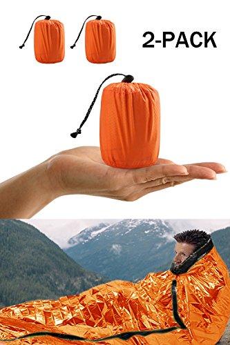 Shayson Survival Sleeping Bag, Emergency Bivy Bag PE Aluminum Film...