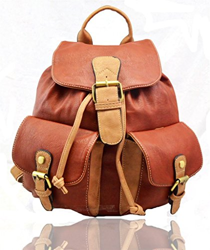 RS.FASHIONS, Borsa a zainetto donna Multi Colour M Brown/Tan